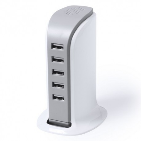 Cargador de escritorio con 5 salidas USB