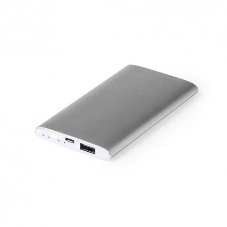 Power bank de aluminio. Elegante batería externa para móvil