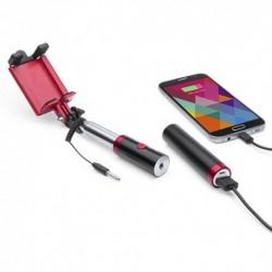 Palo selfie con batería de 2.200 mAh de capacidad y anclada al mango