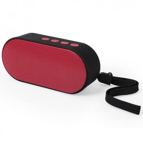 Altavoz de diseño bicolor con conexión bluetooth y radio FM.