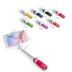 Palo selfie plegable con conexión jack de 3,5 mm, sistema antigiro y disparador integrado en el mango