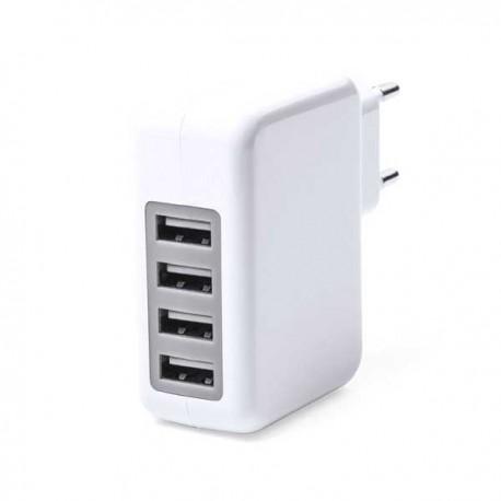 Cargador USB multisalida, con 4 USB