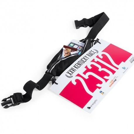 Riñonera portadorsal con cinturón ajustable, resistente a las salpicaduras