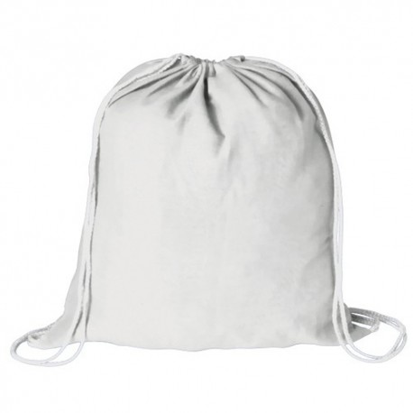 Mochila plana 100% algodón color blanco