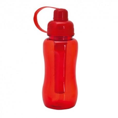 Bidón de 600 ml con enfriador. Color rojo