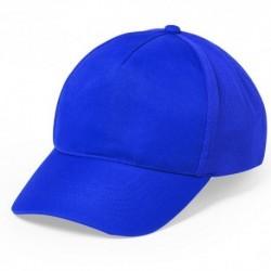 Gorra con cierre ajustable de botones, color azul