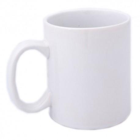 Taza de cerámica blanca de 370 ml.
