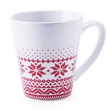Taza de ceramica con original diseño invernal