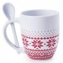Taza de cerámica con cuchara Sorbux