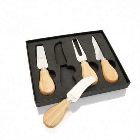 Set para quesos con utensilios de acero inoxidable