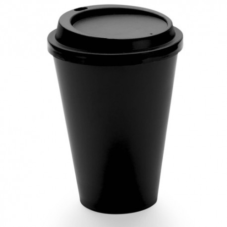 Vaso de plástico con tapa de 450 ml