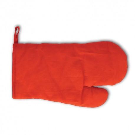 Manopla para cocina 100% algodón. Color rojo