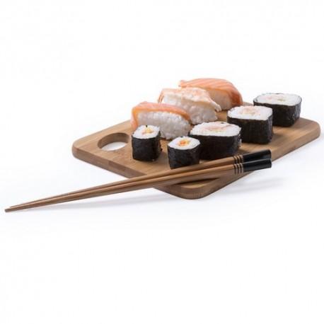 Set de palillos en bambú, de fino acabado. Color negro