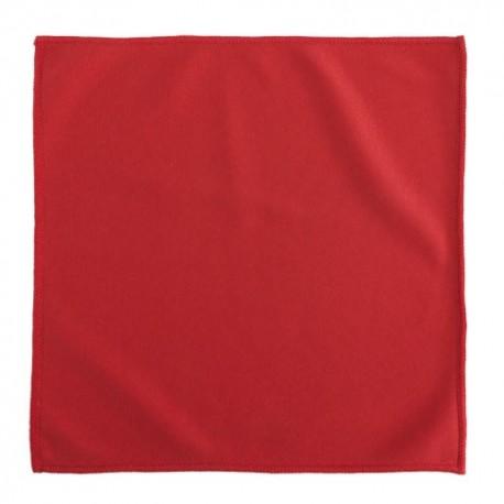 Paño limpiador de 30 x 30 cm. de color rojo