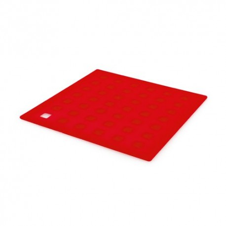 Salvamantel flexible de silicona, rojo