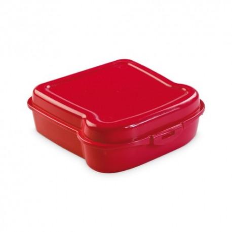 Fiambrera para sandwich de color rojo