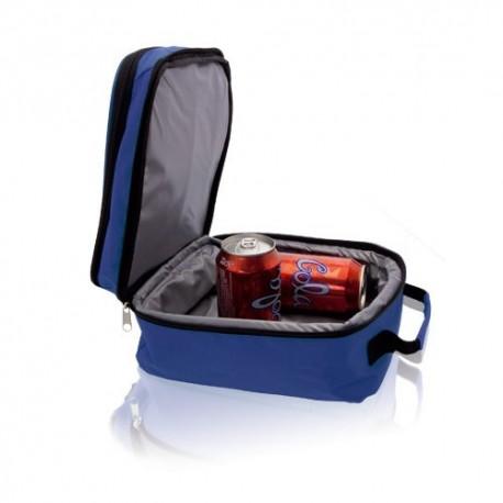 Bolsa nevera azul con dos compartimentos independientes
