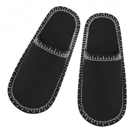Zapatillas unisex de suave poliéster. Negras