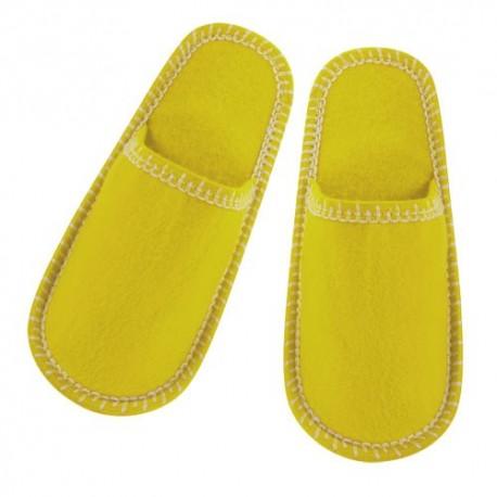 Zapatillas unisex de suave poliéster. Amarillas