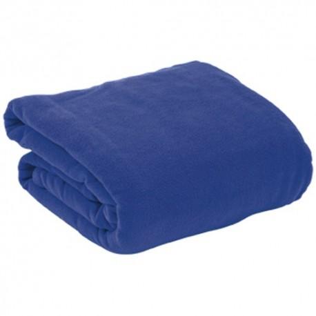Manta polar con mangas azul