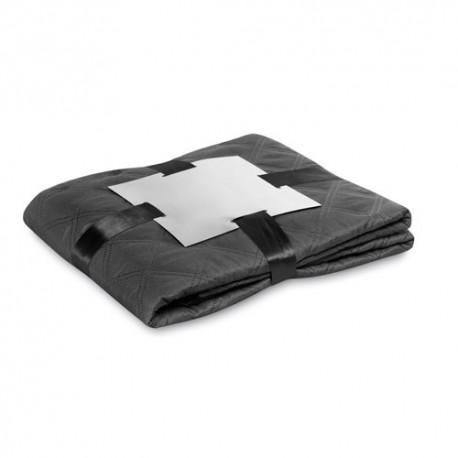 Manta microfibra de 130 x 160 cm. Color negro