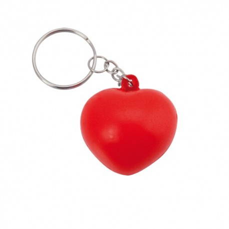 Llavero corazón antiestrés con forma de corazón