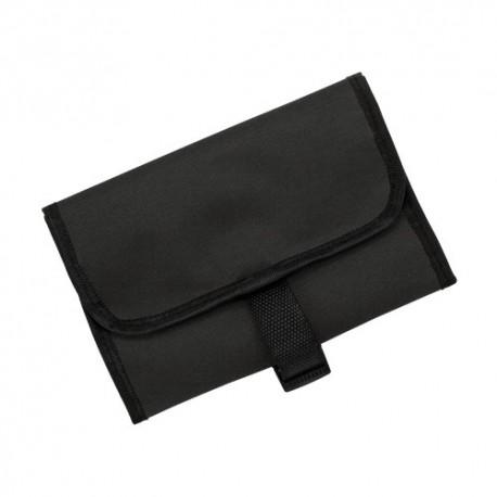 Bolsa de aseo con percha, color negro