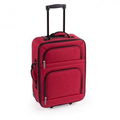 Maleta de viaje en políester, color rojo
