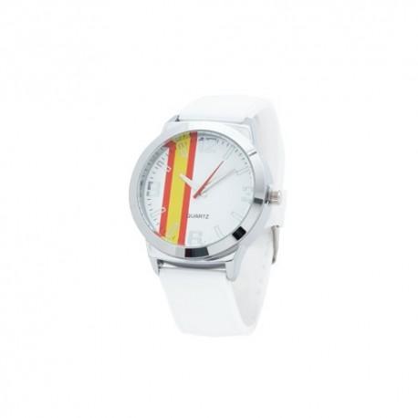 Reloj analógico con la bandera de España
