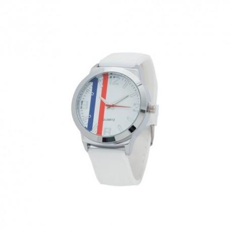 Reloj analógico con la bandera de Francia