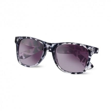 Divertidas gafas de sol con montura translúcida. Color negro.