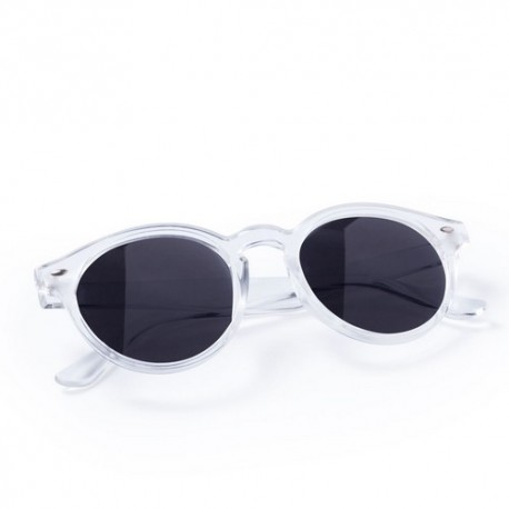 Gafas de sol unisex, diseño circular. Color blanco