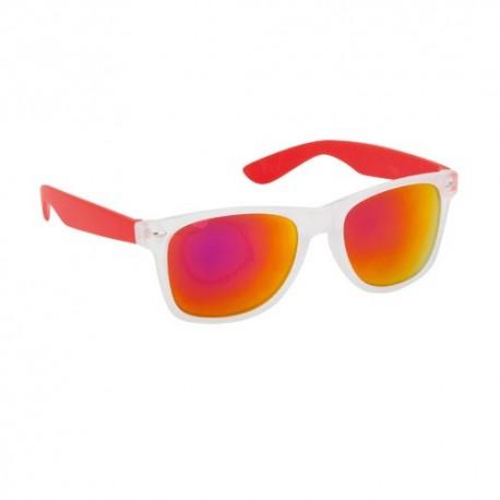 Originales gafas de sol con lentes de color. Color rojo