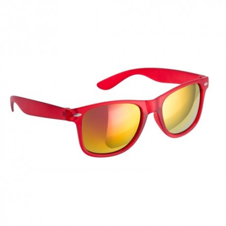 Gafas de sol con cristales de colores. Color rojo