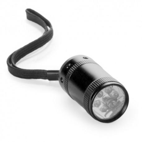Linterna led con cuerpo de aluminio de color negro
