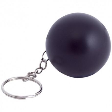 Llavero antiestrés con diseño esférico. Color negro