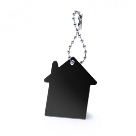 Llavero silueta de casa, color negro