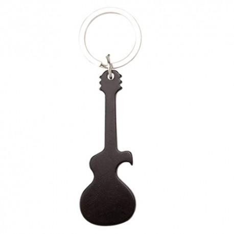 Llavero abridor en forma de guitarra.