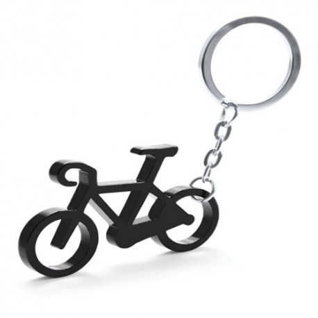 Llavero de aluminio, diseño bicicleta.
