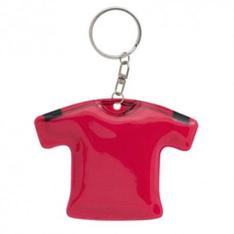 llavero camiseta de resistente PVC. Color rojo