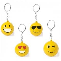 Llavero emoji antiestrés de color amarillo
