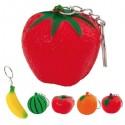 Llavero antiestrés con diseño de frutas