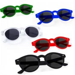 Gafas de sol unisex, diseño circular.