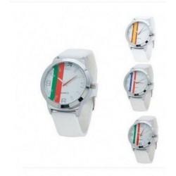 Reloj analógico con correa de silicona y cierre de hebilla