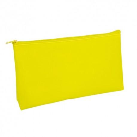 Resistente neceser amarillo de pvc, con cremallera