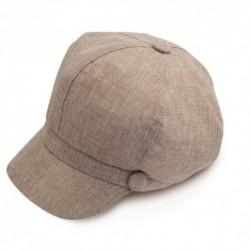 Gorra clásica de lino, de tono beig