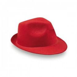 Original sombrero rojo intenso de fieltro