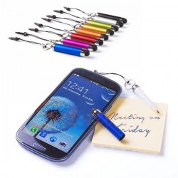 Bolígrafo puntero táctil con enganche para el móvil