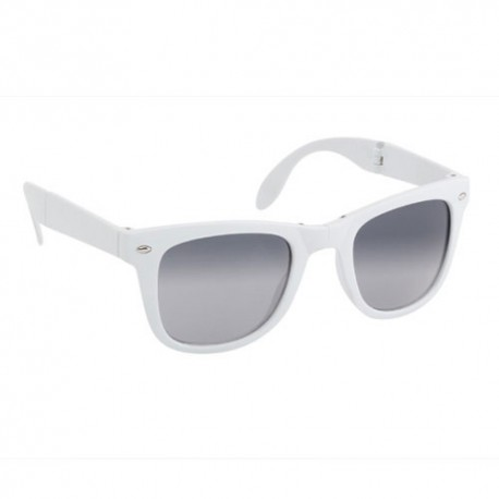 Gafas de sol plegables de color blanco