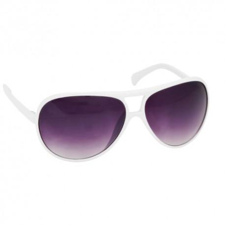 gafas de sol de diseño aviador. Color blanco